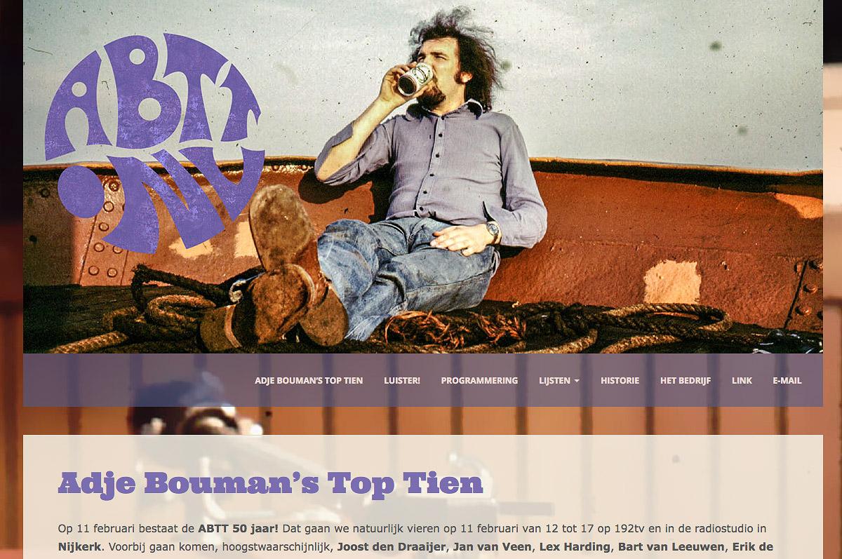 www.abtt.nl - de website omtrent Adje Bouman's Top Tien