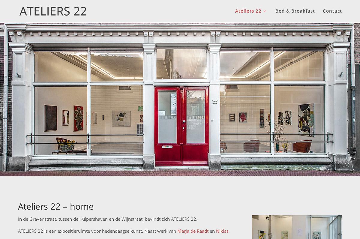 www.ateliers22.nl - website voor Ateliers 22