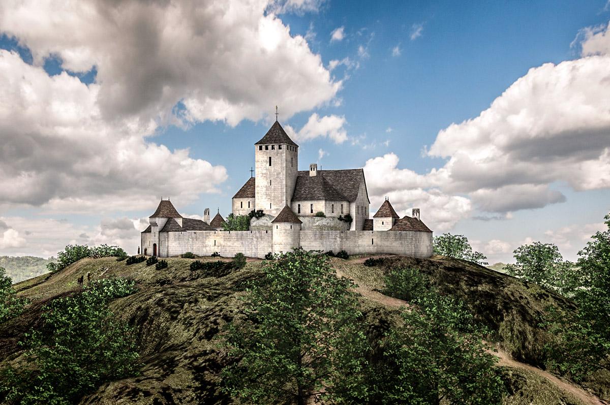 Reconstructie kasteel Viregogue
