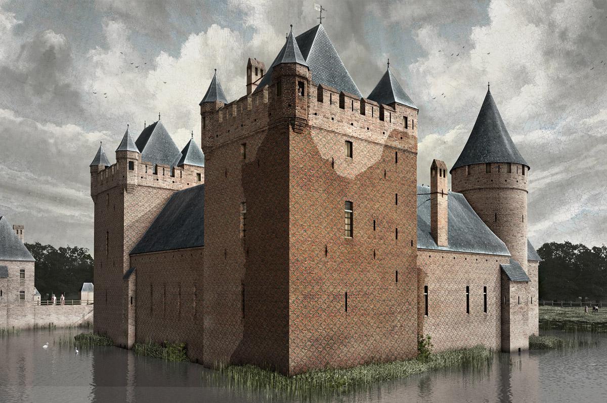 Reconstructie Huis te Merwede - 3D-illustraties voor Gemeente Dordrecht