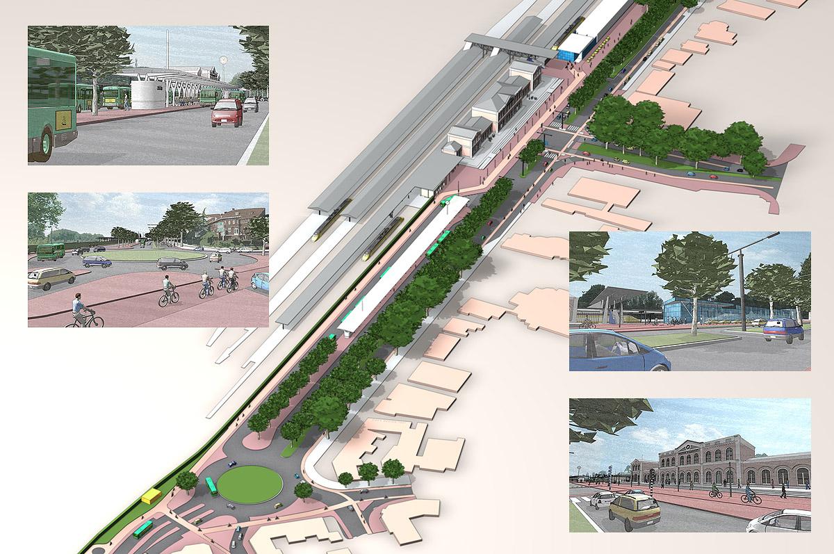 Herinrichting Stationsgebied Dordrecht - 3D-illustraties voor Gemeente Dordrecht