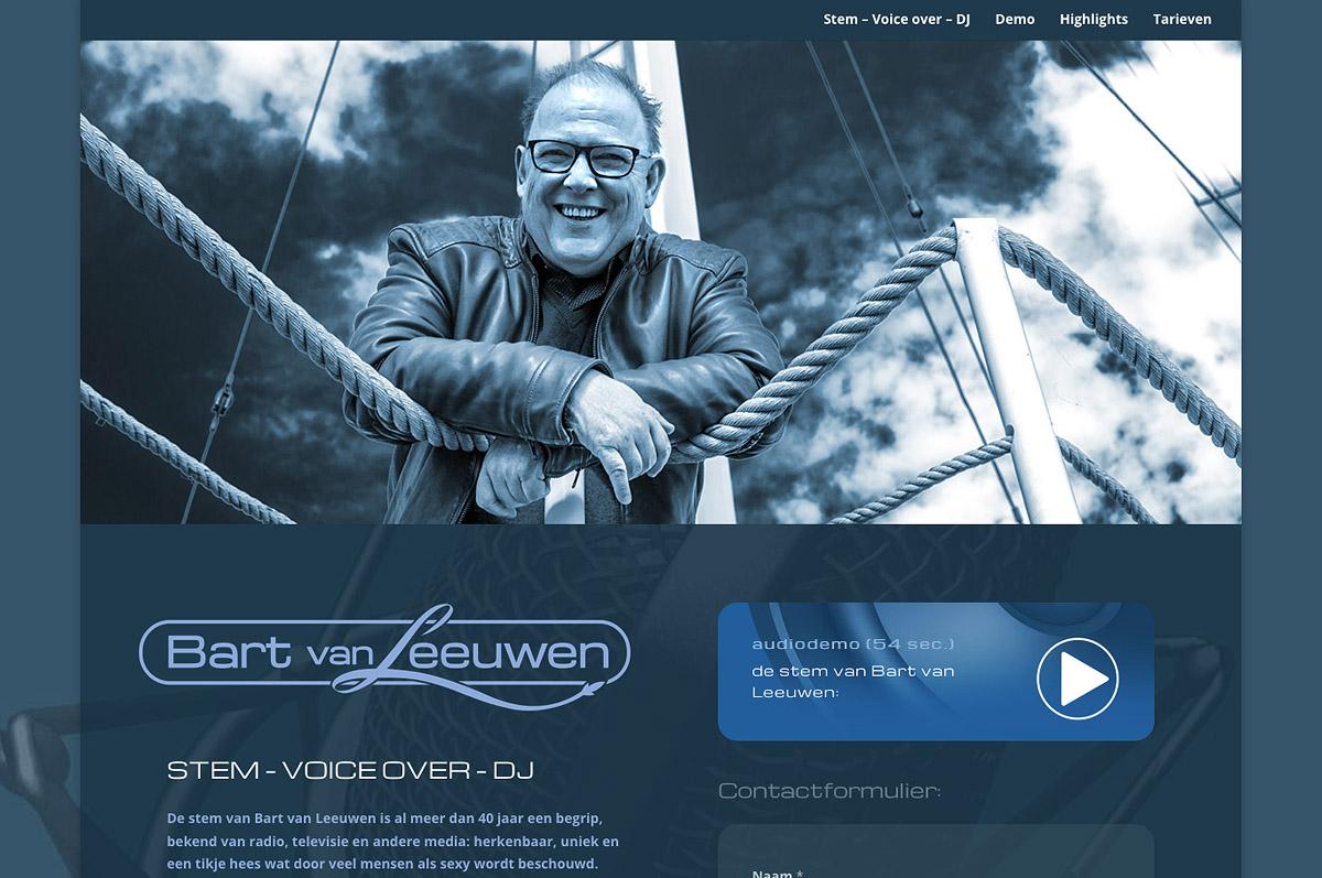 www.destemvanbartvanleeuwen.nl - de website van stem - voice over - DJ  Bart van Leeuwen