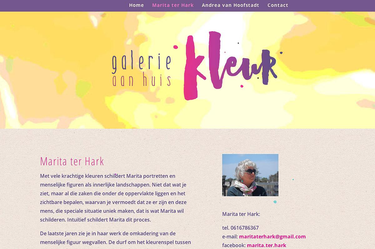 www.galeriekleur.nl - website van Galerie Kleur Dordrecht