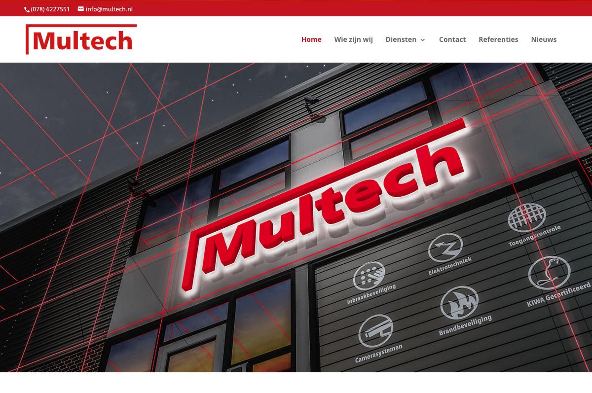 www.multech.nl - website voor Multech Beveiligings- & Elektrotechniek