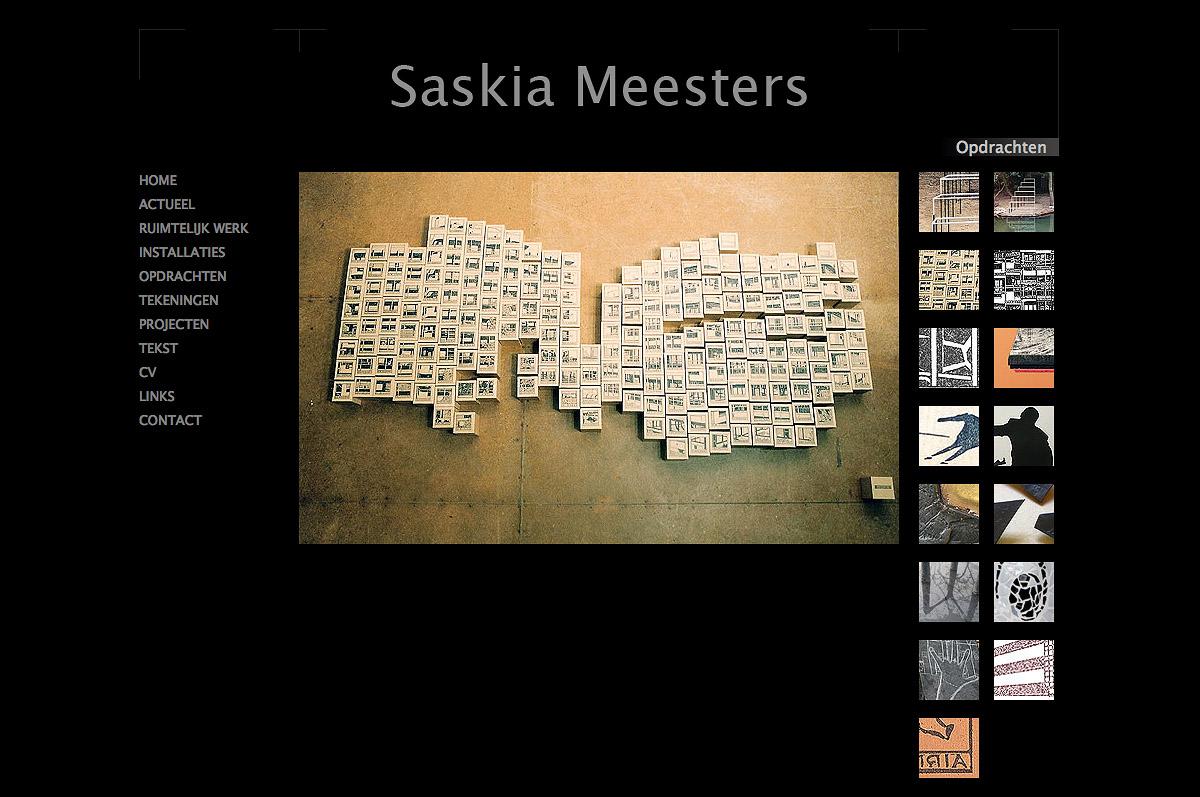 www.saskiameesters.nl - de website van kunstenares Saskia Meesters