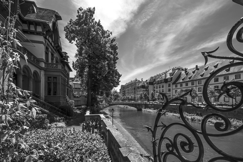 Rivier de Ill, Straatsburg, Elzas, Frankrijk