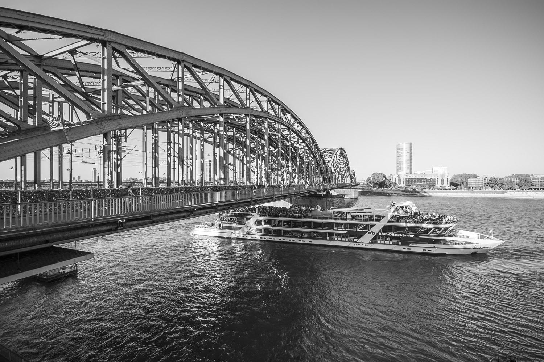 Brug over de Rijn, Keulen, Duitsland