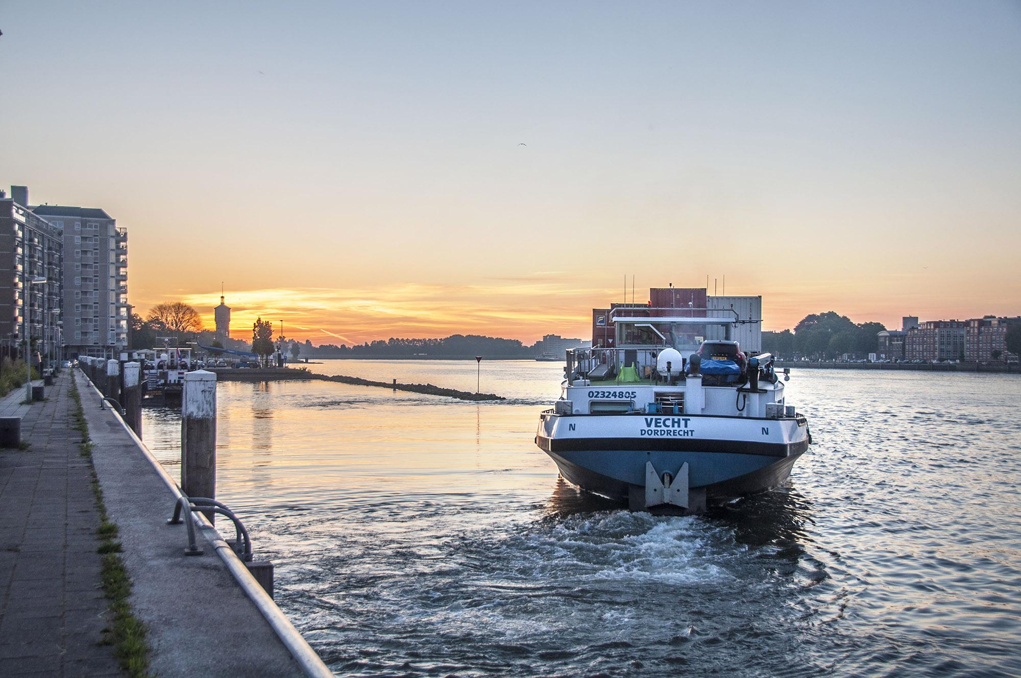 Dordrecht vanaf Zwijndrecht - 14 juni 2017