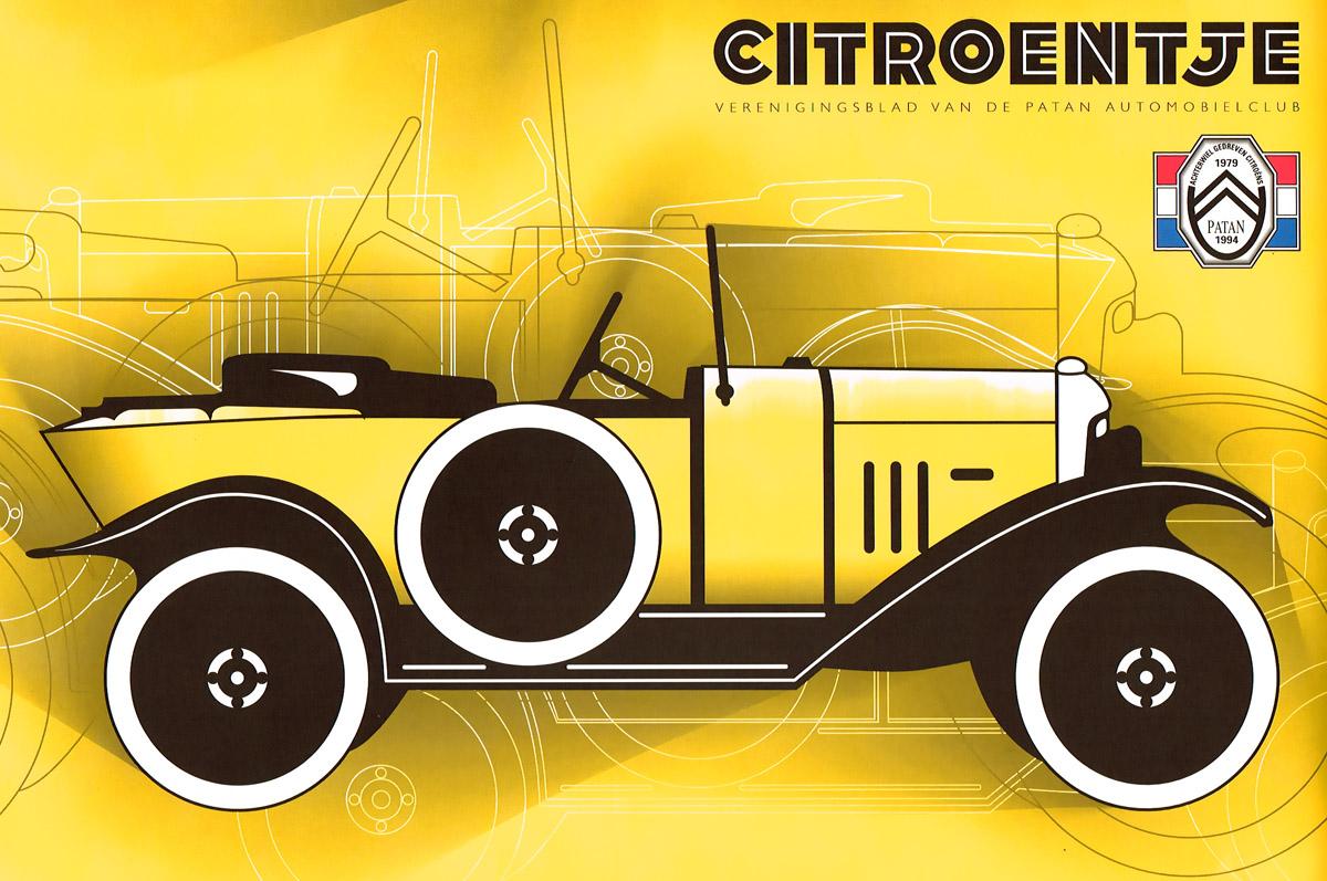 Verenigingsblad Patan 'Citroentje' - achterwiel aangedreven Citroëns