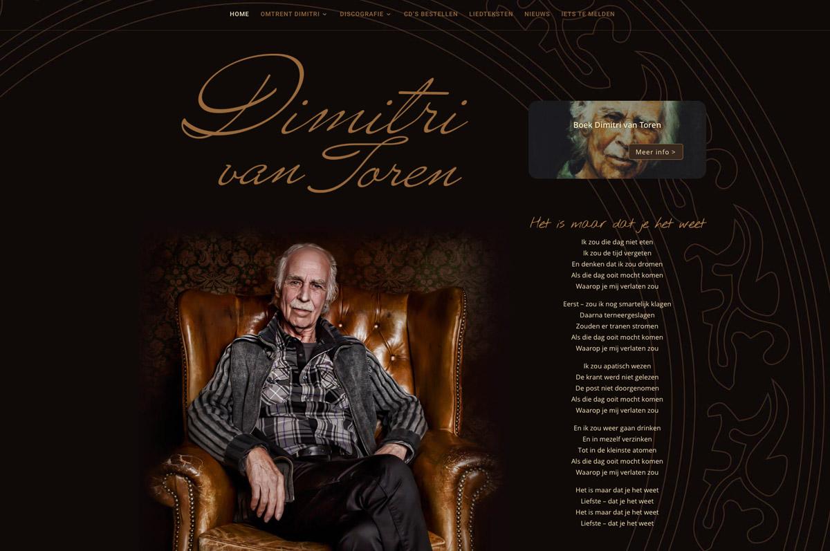 www.dimitrivantoren.nl - website voor Dimitri van Toren