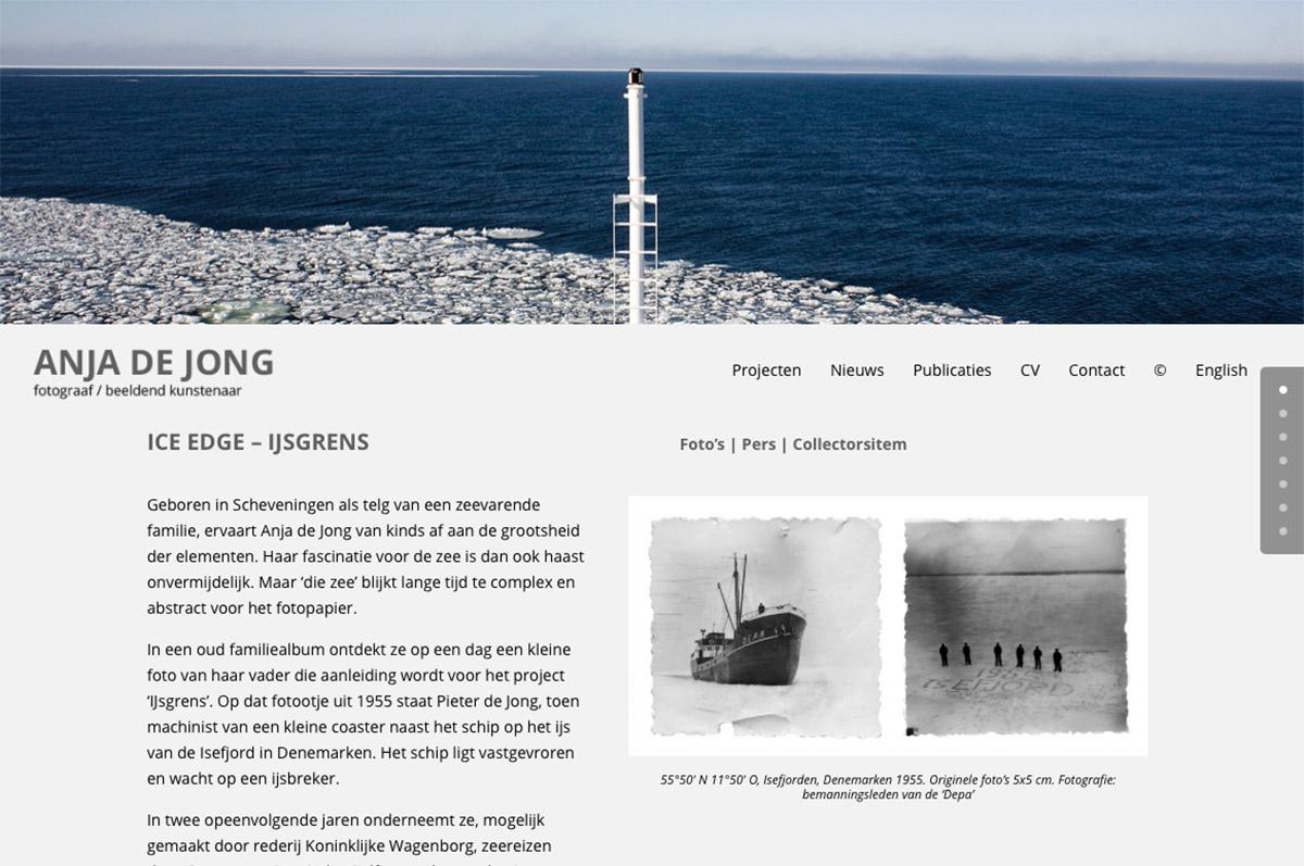 www.anjadejong.nl - website voor fotograaf / beeldend kunstenaar Anja de Jong