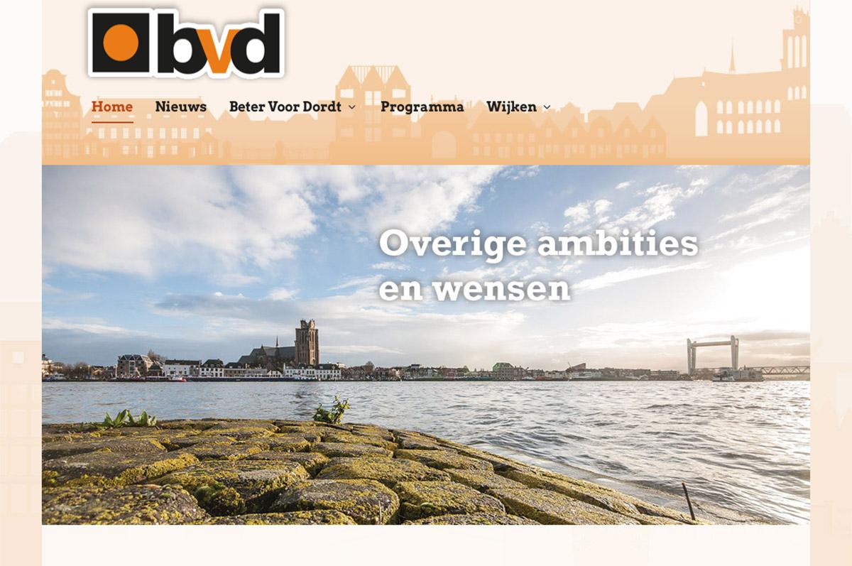 www.betervoordordt.nl - website voor lokale politieke partij Beter Voor Dordt