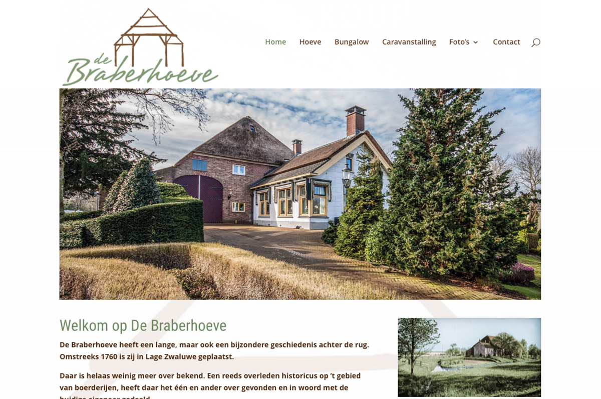 www.braberhoeve.nl - website voor de Braberhoeve