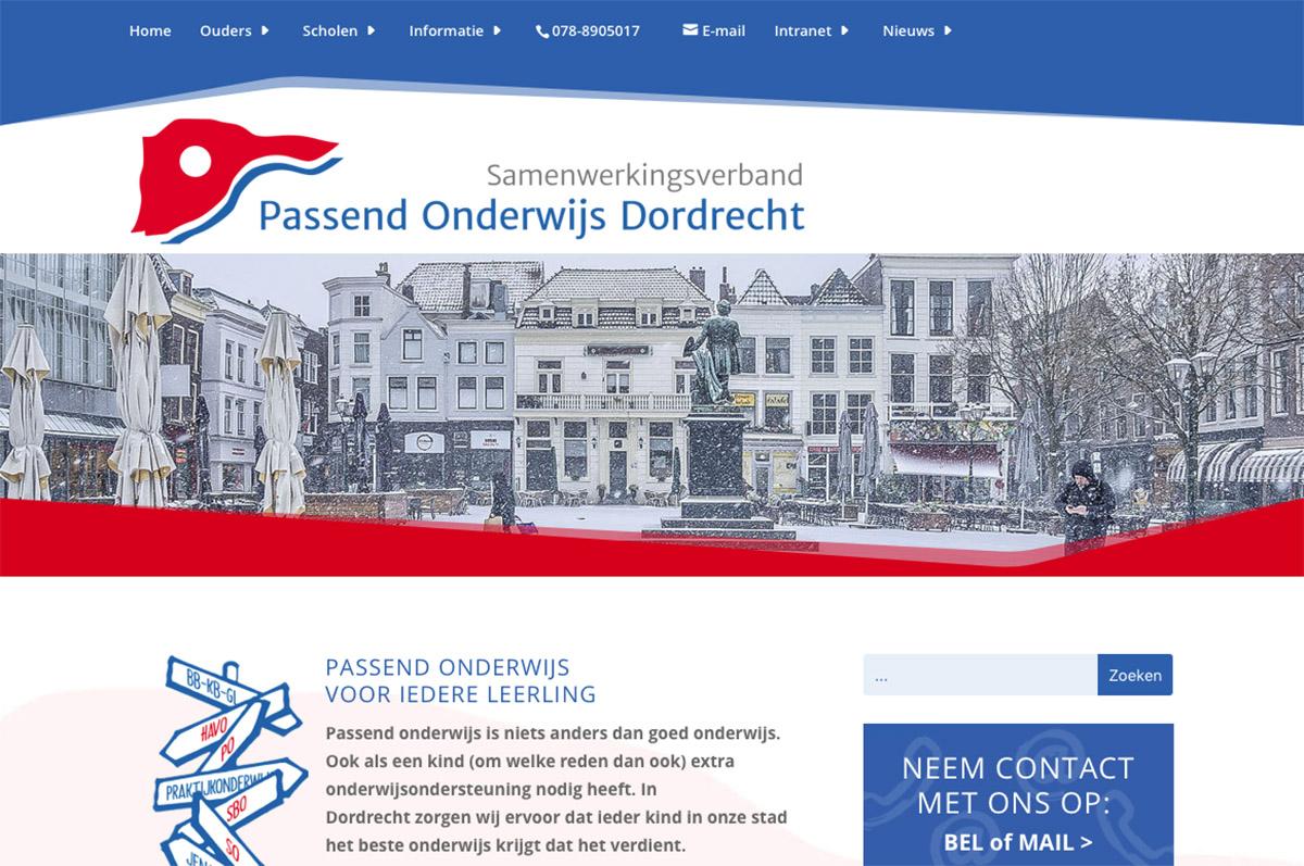 www.swvdordrecht.nl - website voor Passend Onderwijs / SWV Dordrecht