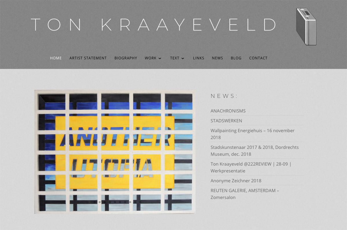 www.tonkraayeveld.nl - website voor kunstenaar Ton Kraayeveld