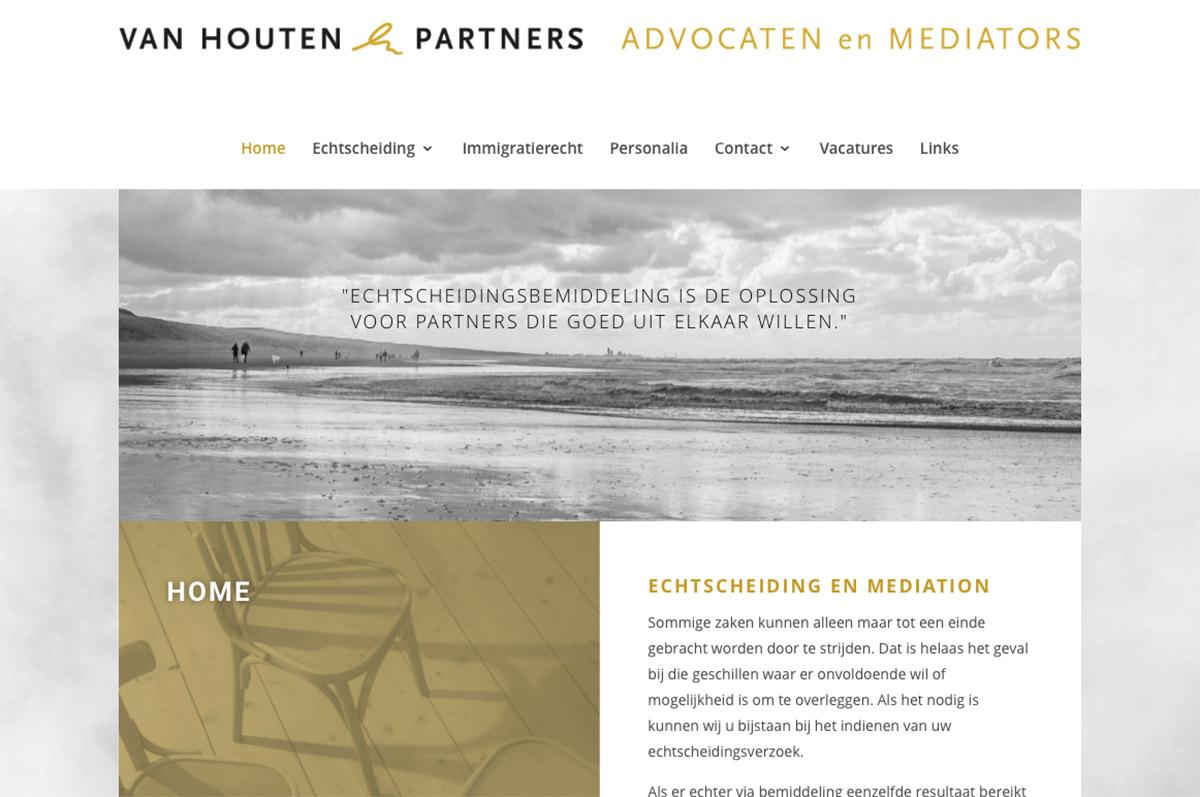 www.vhpa.nl - website Van Houten & Partners Advocaten
